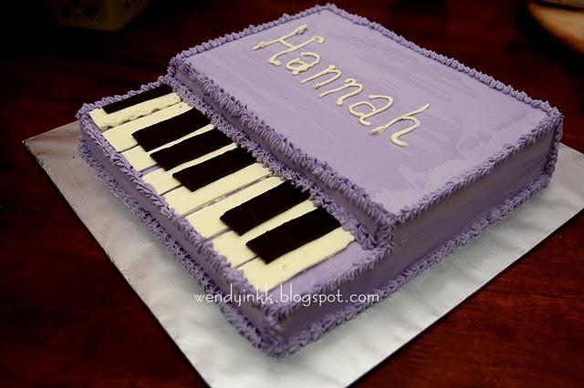 The Secret Garden: guitar and piano shaped cake ideas
