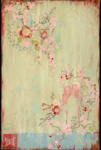 Wouldn't this beautiful art make a lovely fabric or wallpaper? When I first saw Kathe Fraga's incredible paintings