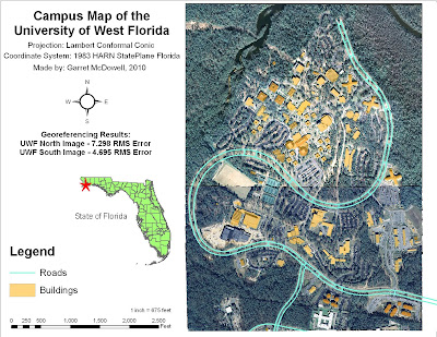 Garret McDowell 39 s GIS Page Campus Map of the University of West Florida