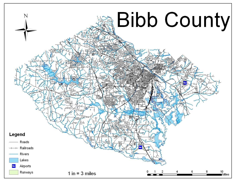 Garret McDowell\'s GIS Page: Bibb County Random Mapbibb county