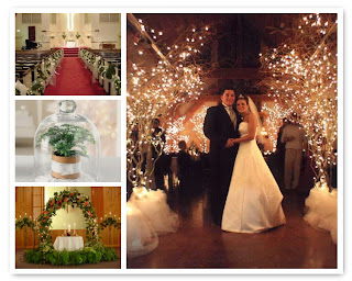 christmas wedding flower themes, mood board