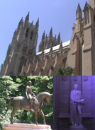 Washington Cathedral & Statues
