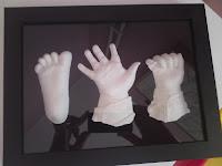 Gjut hand- och fotavtryck i gips