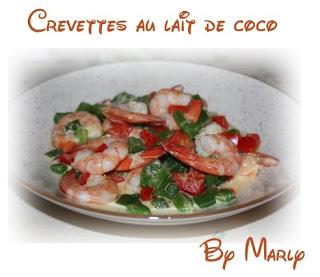 recettes  Crevettes sésame lait de coco
