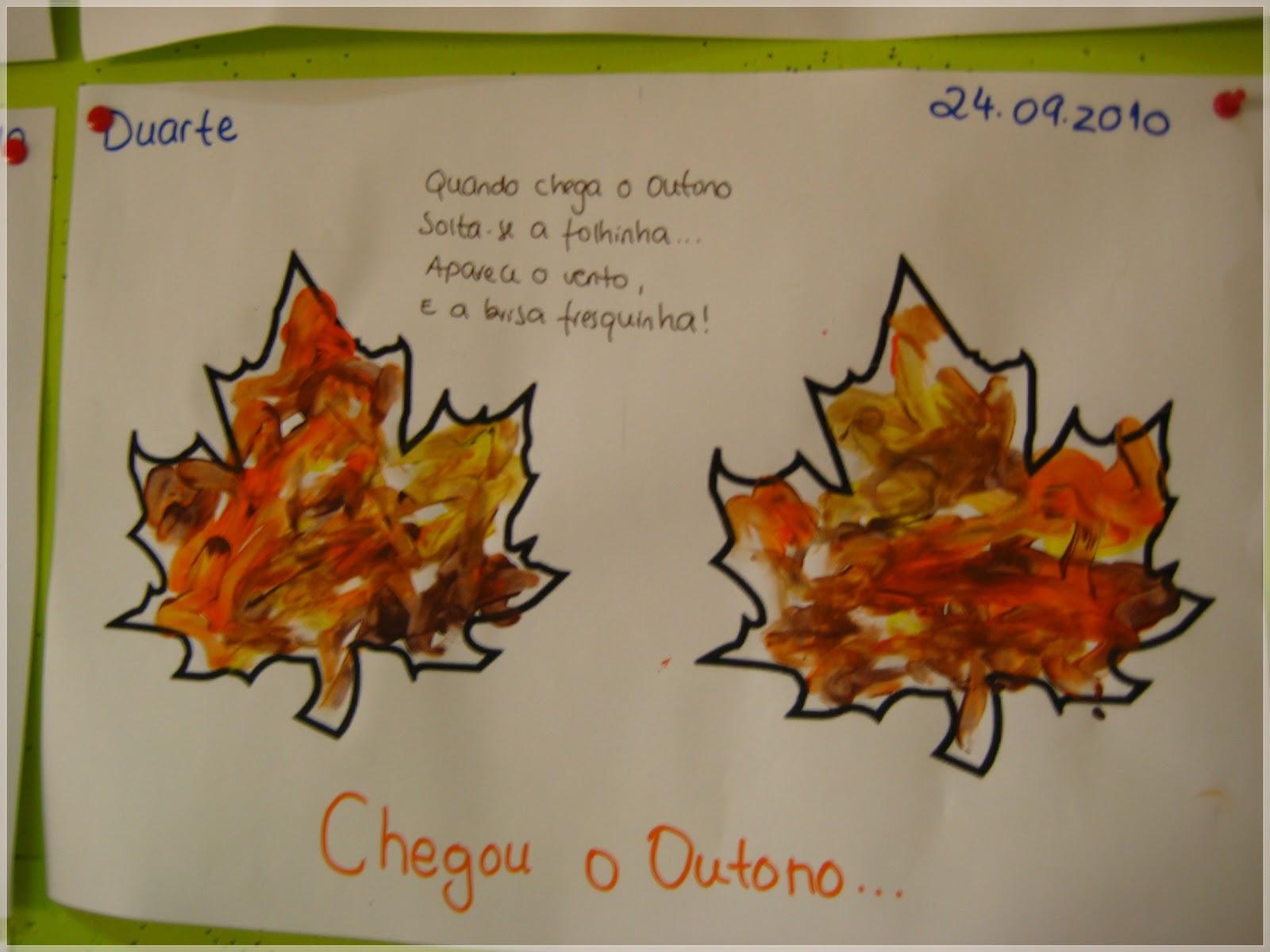 ideias para o outono jardim de infancia : ideias para o outono jardim de infancia:Foto 1: As nossas folhas de Outono (pintura com dedo)