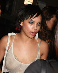Zoe Kravitz's See Through Top Exposed Her Nipples Showing Some Boobs GutterUncensored