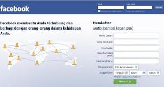 homepage situs cara membuat facebook