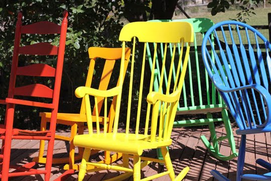 Finding A Rocking Chair For Every Family Member U0026 Painting Them Lovely  Bright Colors. So Cute U0026 Fun!
