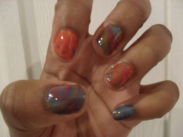 marble nail art student's