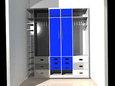 Dise arte dise o de closet juvenil for Diseno zapateras para closet