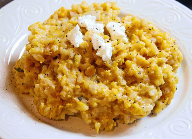Cooking Weekends: Creamy Butternut Squash and Goat Cheese Risotto
