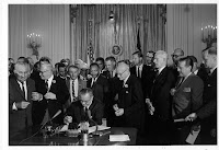 Lyndon Johnson Signs Civil Rights Act