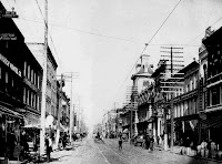 Greensboro, North Carolina, 1890s Downtown had a number of brick & granite structures.