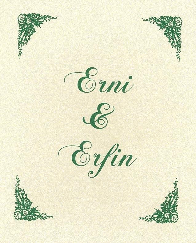 Diposkan oleh Undangan Pernikahan Erni dan Erfin di 20.01 Tidak ada ...