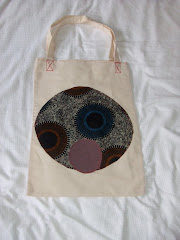 Canvas bag with afro figure