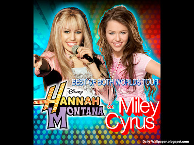 Celebrity Wallpaper of Miley Cyrus Hannah Montana
