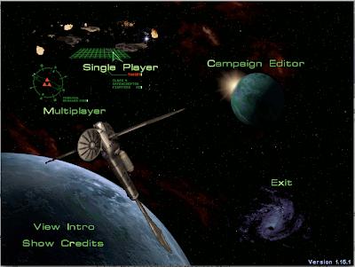 Pantalla del menú principal de Starcraft que muestra un símbolo triforce