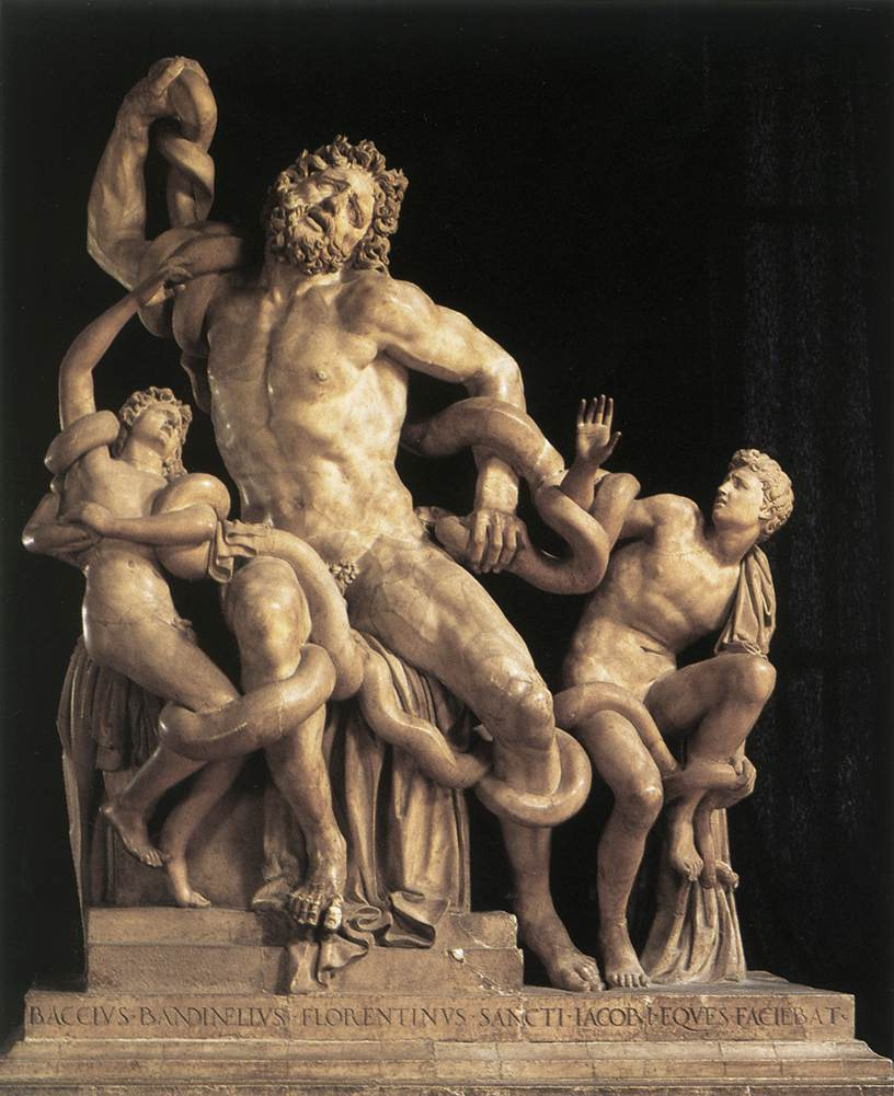 the laocoon group Laocoön: laocoön, a portrayal of anguish, shows the figure of the priest laocoön and his two sons in the grip of two snakes the sculpture, in immobile stone, is bursting with dynamism and energy the laocoon group (vatican museums).