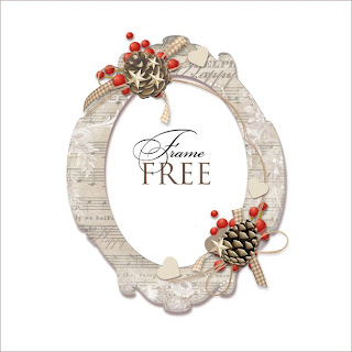 Scrapbook Freebie Holiday Frame by farfarhill