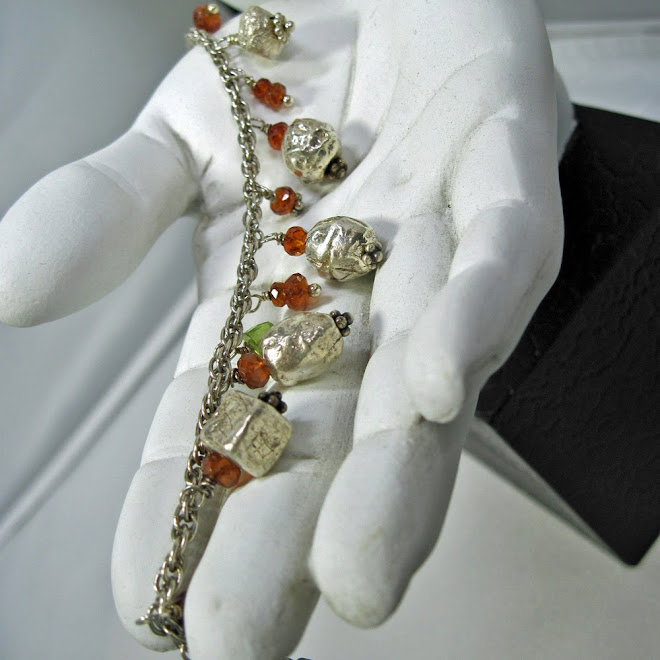 Bracelet with Peridot and Garnet