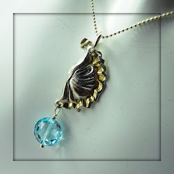Blue Topaz With Fine Silver and Gold