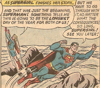 Superman's first lie of the day