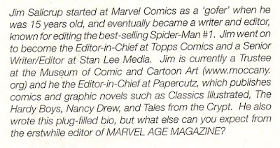 Jim Salicrup gets a bio, and Stan Lee doesn't?