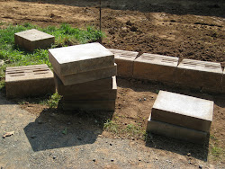 Cinder blocks for building the wall.