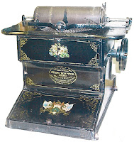 THE Sholes & Glidden TYPE WRITER, PATENTED, Western Electric MANUFACTURING COMPANY, CHICAGO