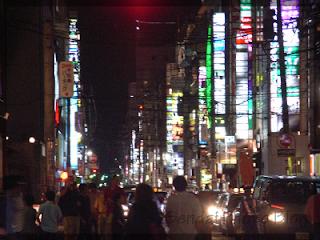sendai kokubuncho at night