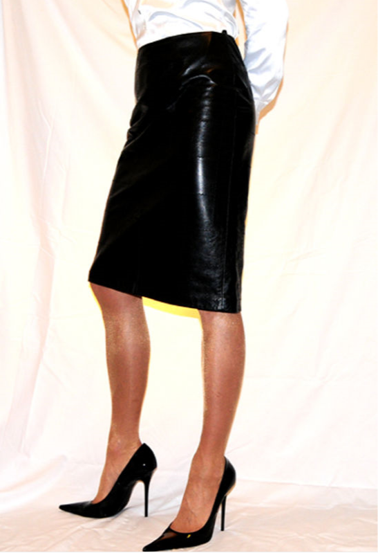 ebay leather a leather skirt well modeled