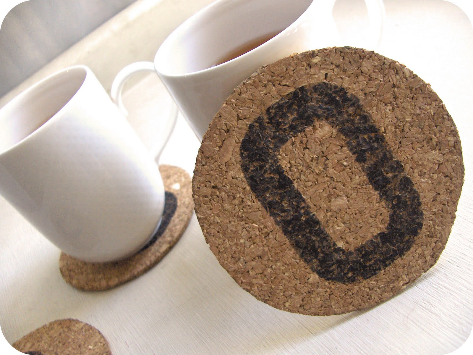zakka life craft project personalized cork coasters