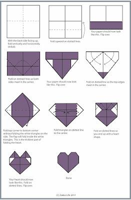corazon origami ideas dia amor y amistad