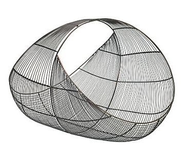 Spirograph log basket