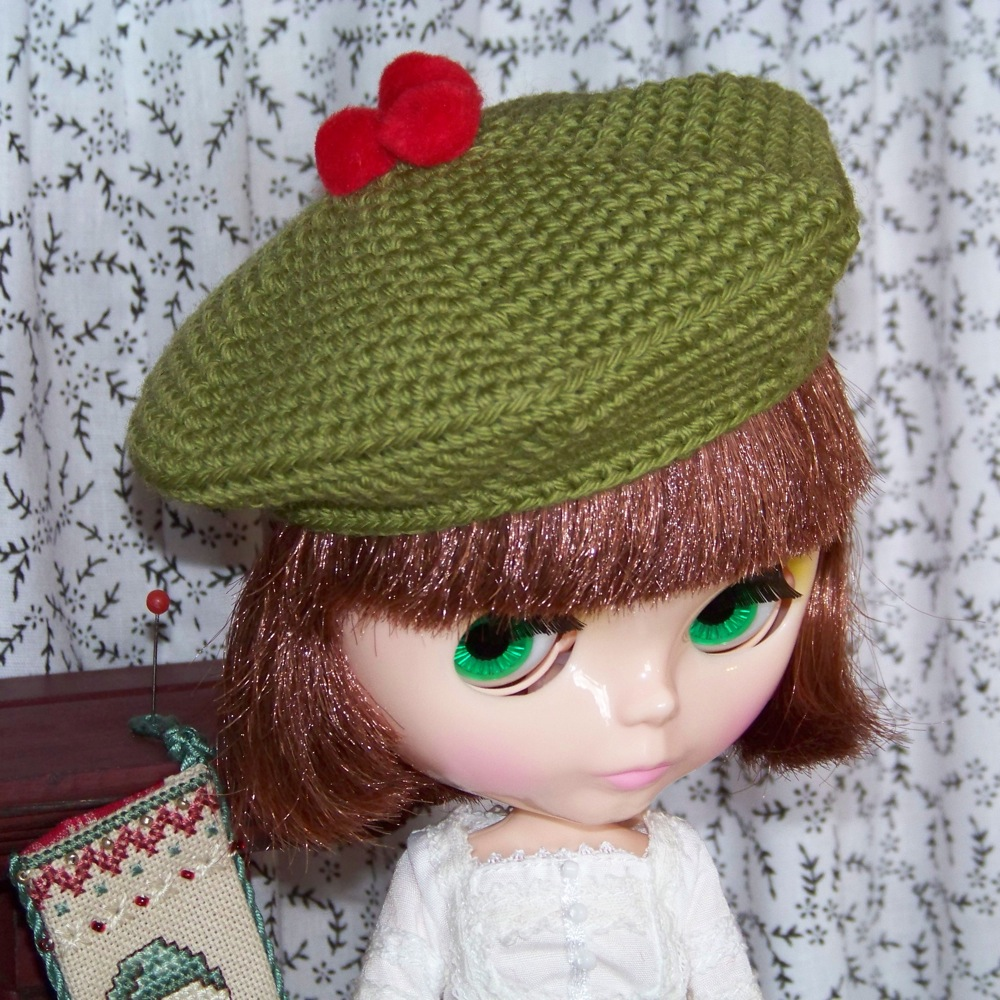 Free Crochet Patterns For Tam Hats : Elses Bellas Artes: A Tam for Blythe - Free Pattern and ...