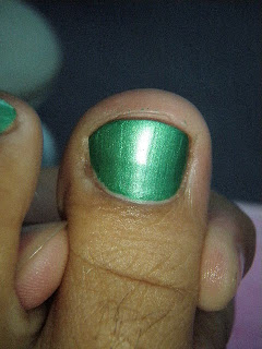 perfect nail work pedicure green nails