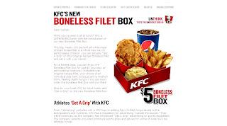 kfc boneless fillet box