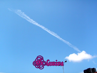 sky smoke at kota kinabalu sabah