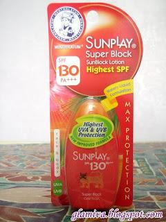 review on Sunplay Super Block Sunblock Lotion Highest SPF (SPF 130 PA+++) from watsons karamunsing kota kinabalu sabah