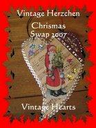 Vintage Herzchen Weihnachtsswap