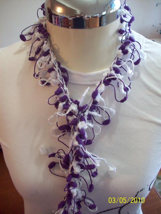 acessorio em croche mini duas cores