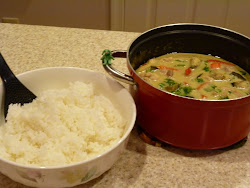 Thai Green Curry with Japanese Rice