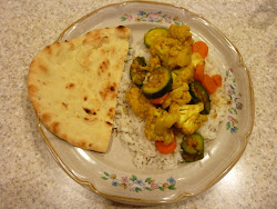 Indian Cauliflower and Vegetables with Roasted Rice
