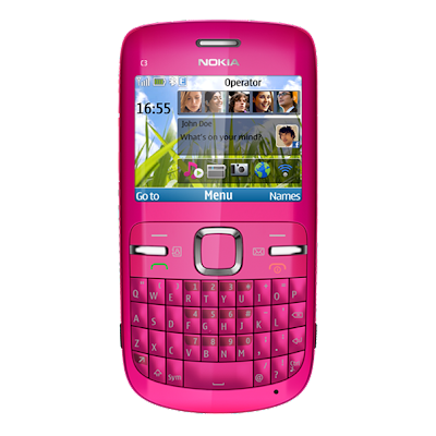 Philippine market, the Nokia C3-00. It is available in hot pink color.