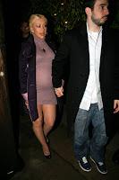 Christina Aguilera in a See-Thru Dress