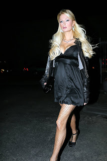 Paris Hilton in Fishnets