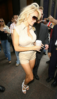 Pamela Anderson Leggy Candids