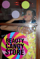 Adriana Lima  Helps Launch Victoria's Secret Candy Store
