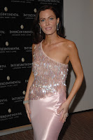 Linzi Stoppard in a Slinky Dress