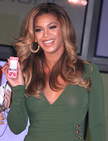 Beyonce in a See-Thru Dress